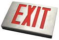 New York Brushed Aluminum Exit Sign w/ Battery