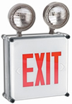 Wet Location Red LED Exit Sign/Emergency Light