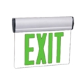 Single Face Green LED Swivel Edge-Lit Exit