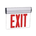 Red LED Swivel Edge-Lit Exit w/ Battery Backup