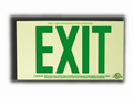 Green Photoluminescent Exit Sign