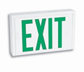 Universal Rugged Steel Green LED AC Exit Sign