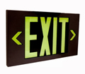 Non-Electric Die Cast Steel Exit Sign