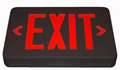 Black Housing Red LED AC Exit Sign Sgl/Dbl Sided