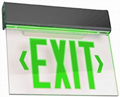 Black Edge-Lit Green LED Battery Backup Exit Sign