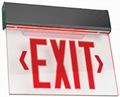 Black Edge-Lit Red LED Battery Backup Exit Sign