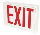 New York City Approved Steel Exit Sign w/ Battery